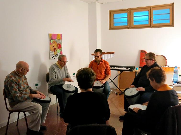 Musicoterapia rehabilitadora - Sesiones grupales