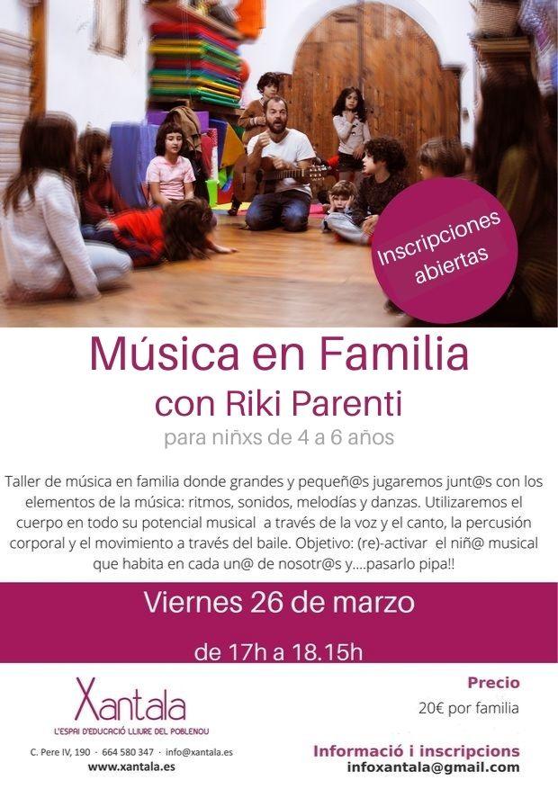 Taller Taller Musica en Familia Xantala